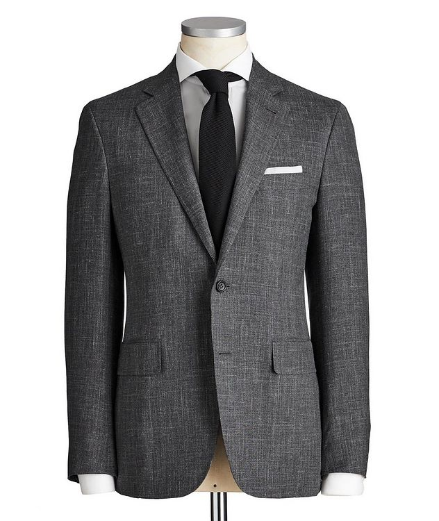 Kei Crosshatched Wool, Silk & Linen Suit picture 1
