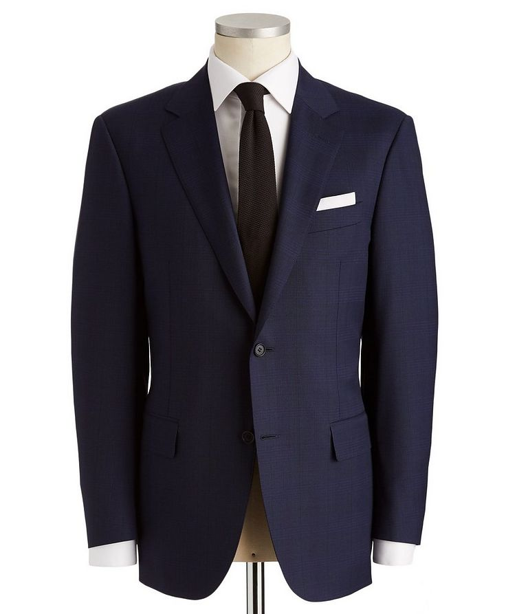 Contemporary Fit Glen Checked Suit image 0