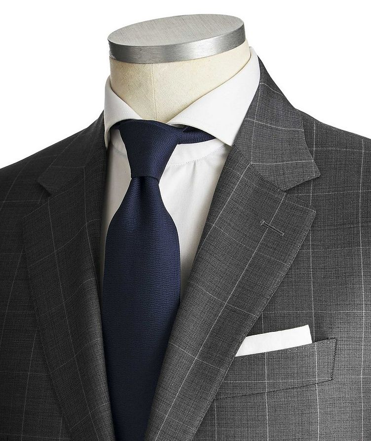 Contemporary Fit Windowpane Suit image 1