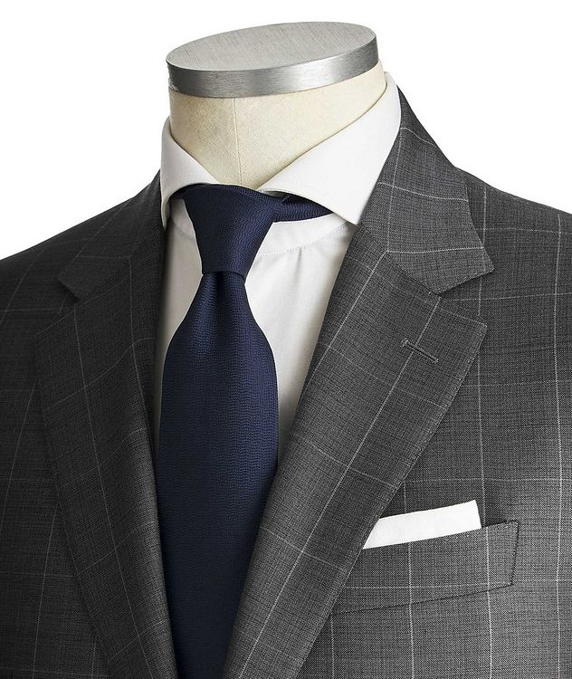 Contemporary Fit Windowpane Suit picture 2