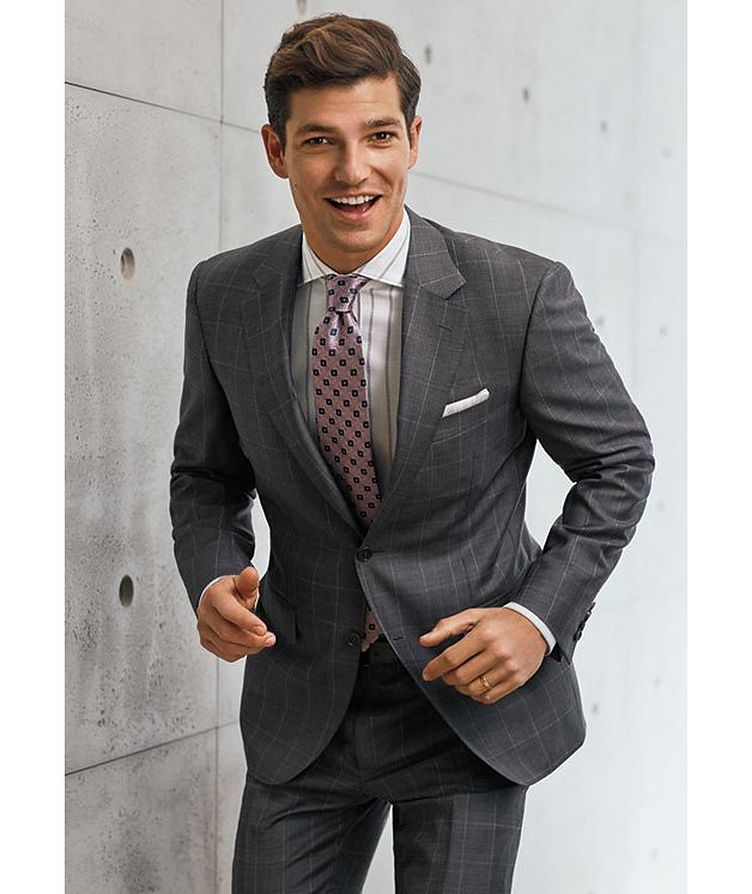 Contemporary Fit Windowpane Suit image 2
