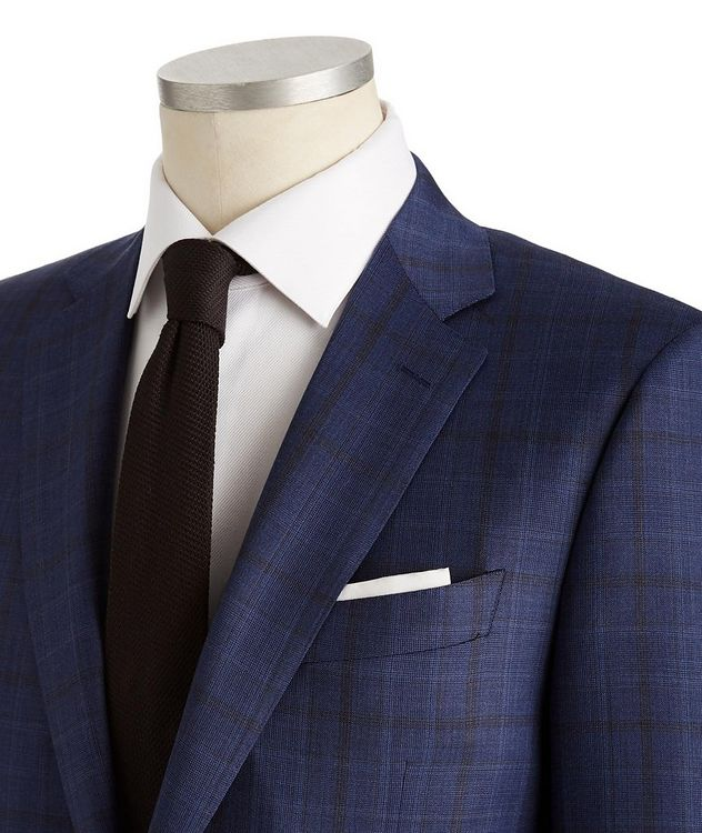 Contemporary Fit Glen Checked Suit picture 2