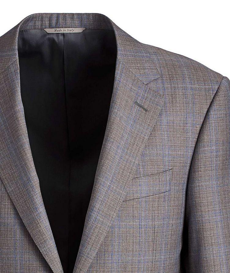 Complet en laine à motif quadrillé de coupe contemporaine image 1