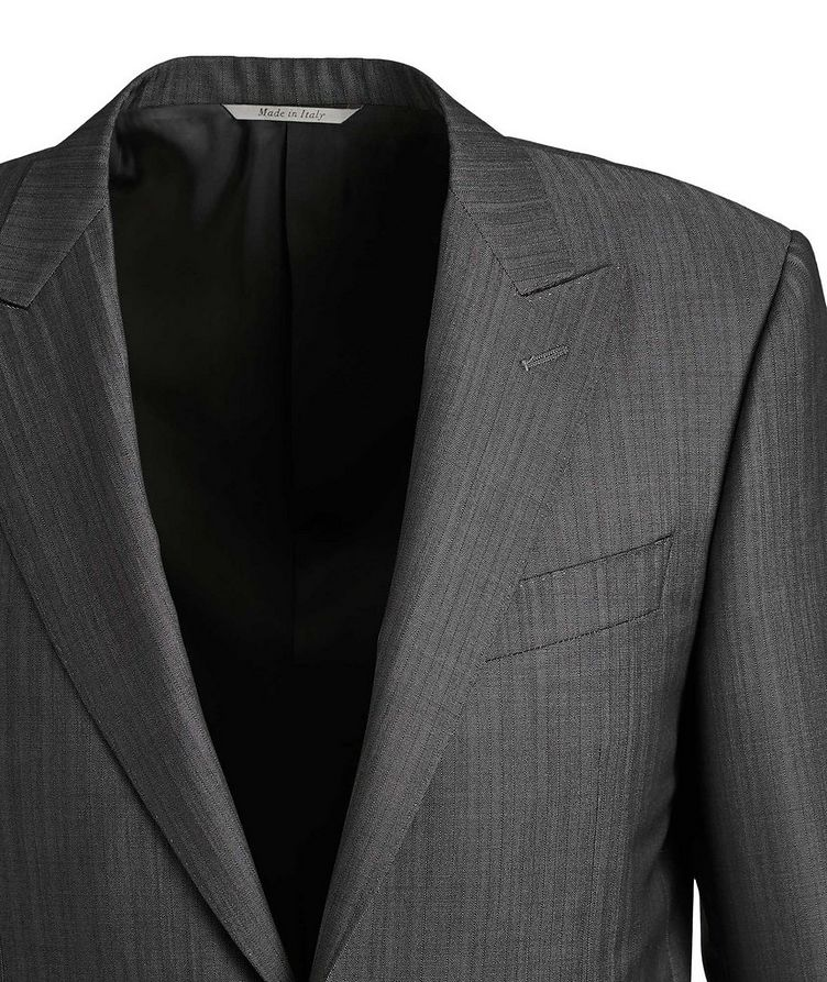 Contemporary Fit Pinstriped Wool-Mohair Suit image 1