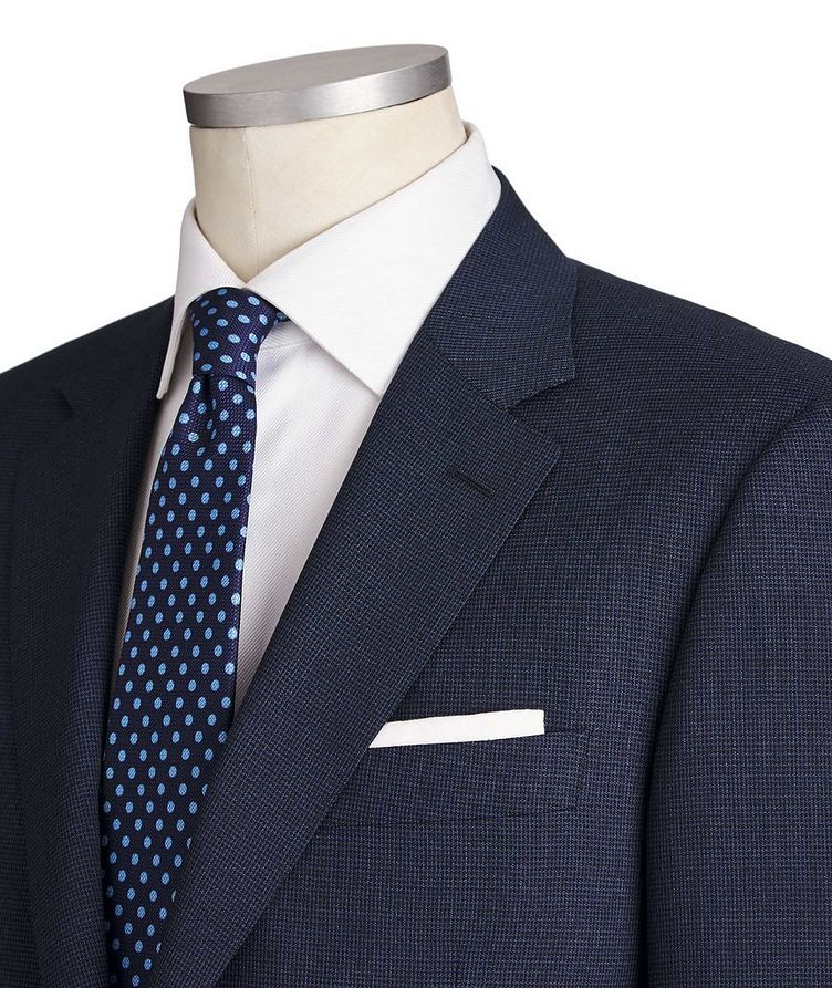 Contemporary Fit Micro-Grid Wool Suit image 1