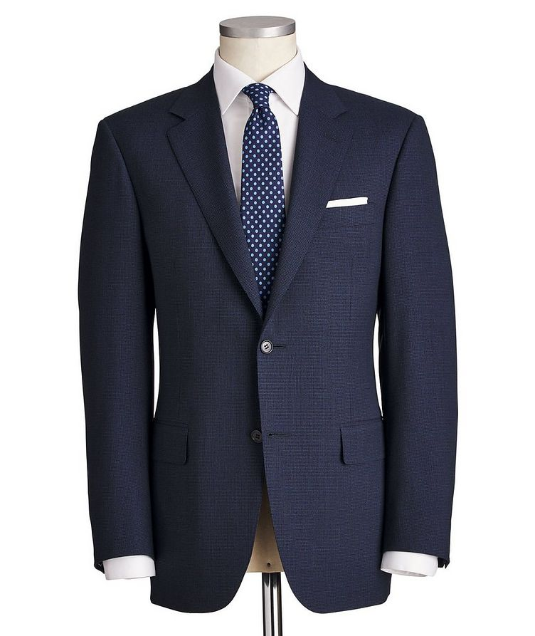Contemporary Fit Micro-Grid Wool Suit image 0