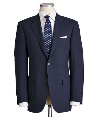 Canali Contemporary Fit Micro-Grid Wool Suit