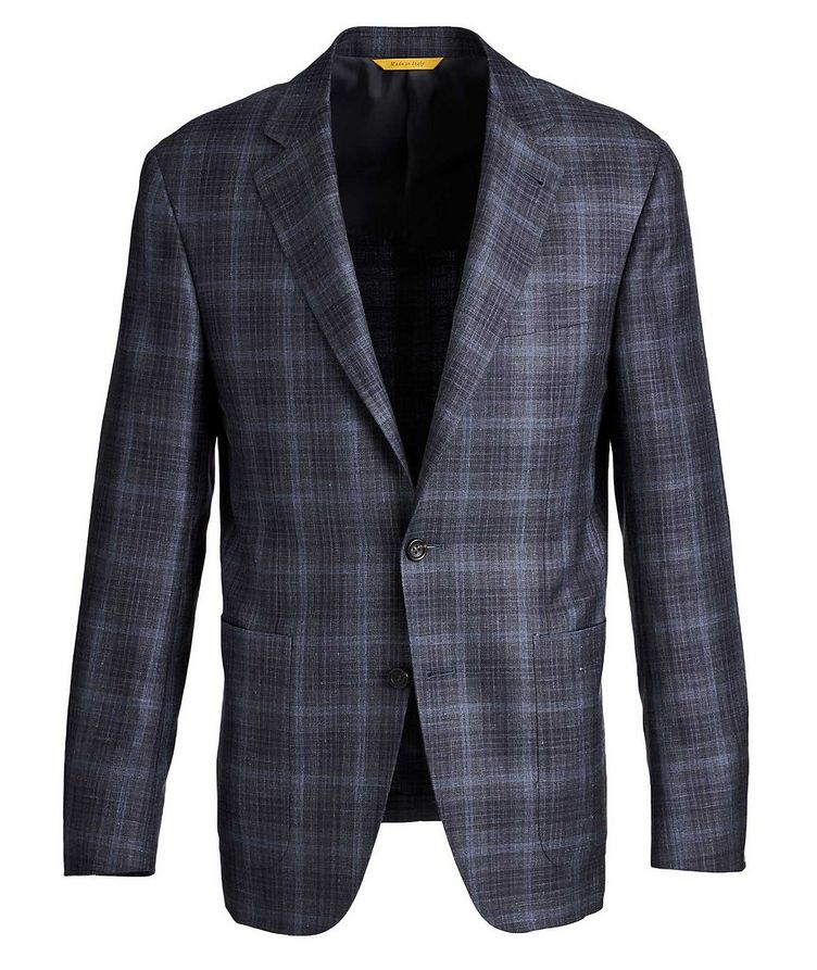 Kei Checked Wool, Silk, and Linen Sports Jacket image 0