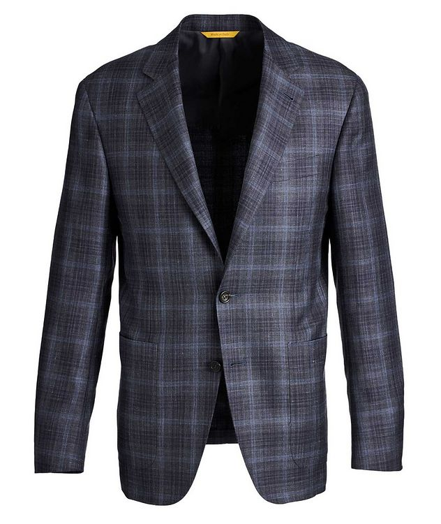 Kei Checked Wool, Silk, and Linen Sports Jacket picture 1