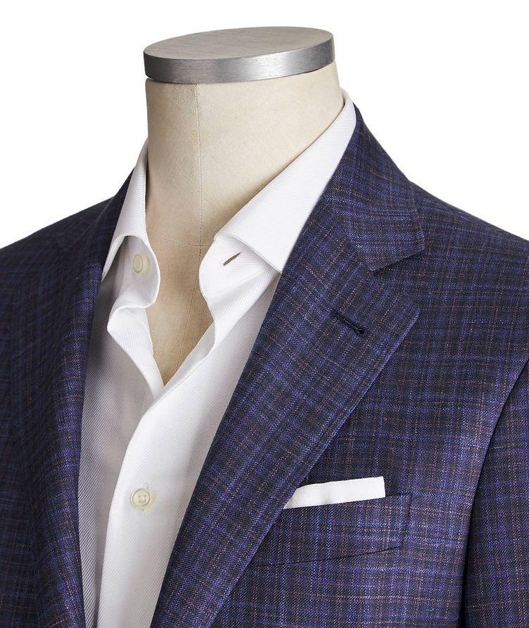 Kei Checked Wool, Silk & Linen Sports Jacket image 1