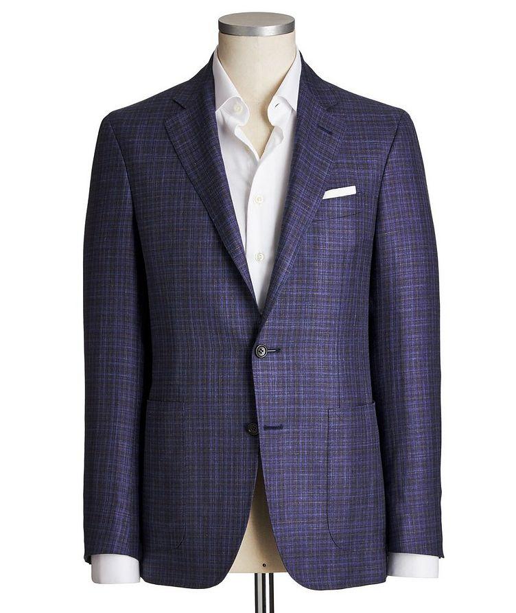 Kei Checked Wool, Silk & Linen Sports Jacket image 0