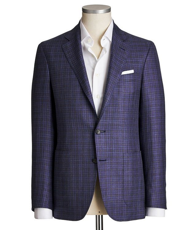 Kei Checked Wool, Silk & Linen Sports Jacket picture 1