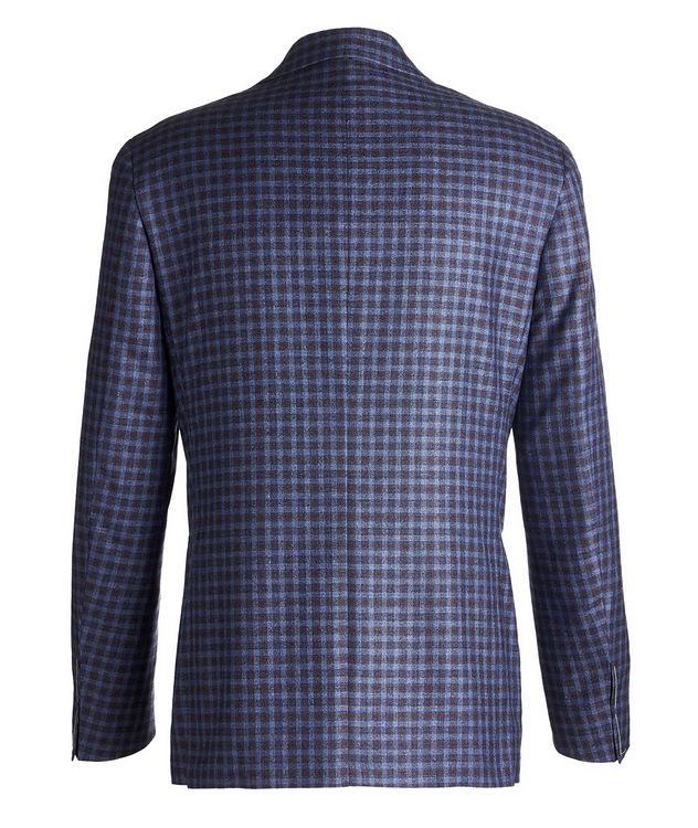 Kei Checked Silk-Cashmere Sports Jacket picture 2