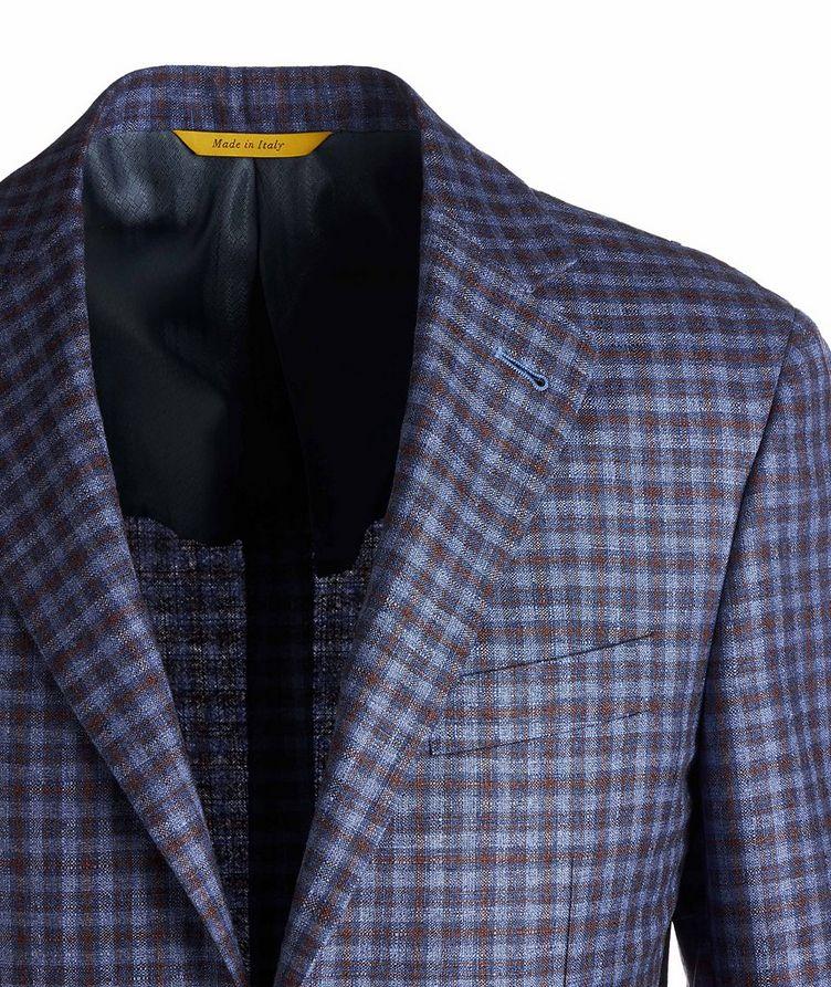 Kei Checked Silk-Cashmere Sports Jacket image 2