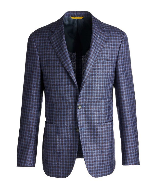 Kei Checked Silk-Cashmere Sports Jacket picture 1