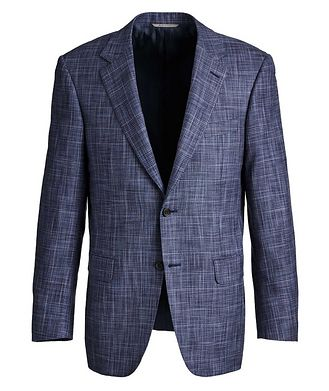 Canali Exclusive Checked Cotton-Silk Sports Jacket