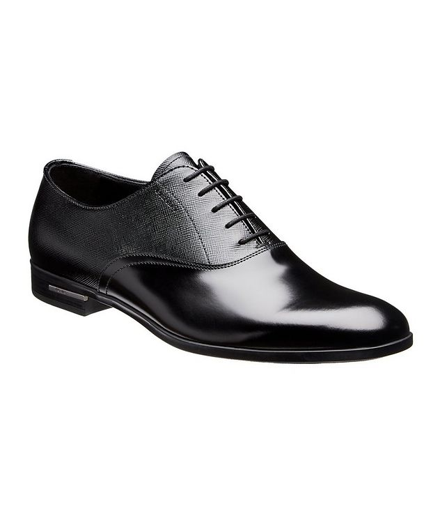 Saffiano Leather Oxfords picture 1