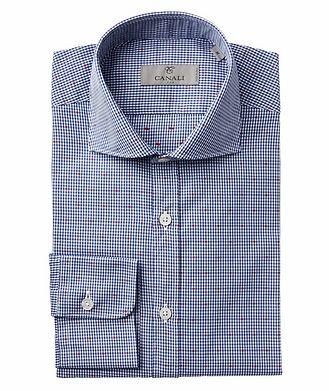 Canali Gingham Check-Printed Cotton Shirt