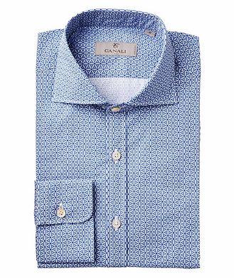 Canali Neat-Printed Cotton Shirt