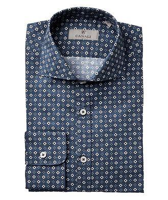 Canali Geometric-Printed Cotton Shirt