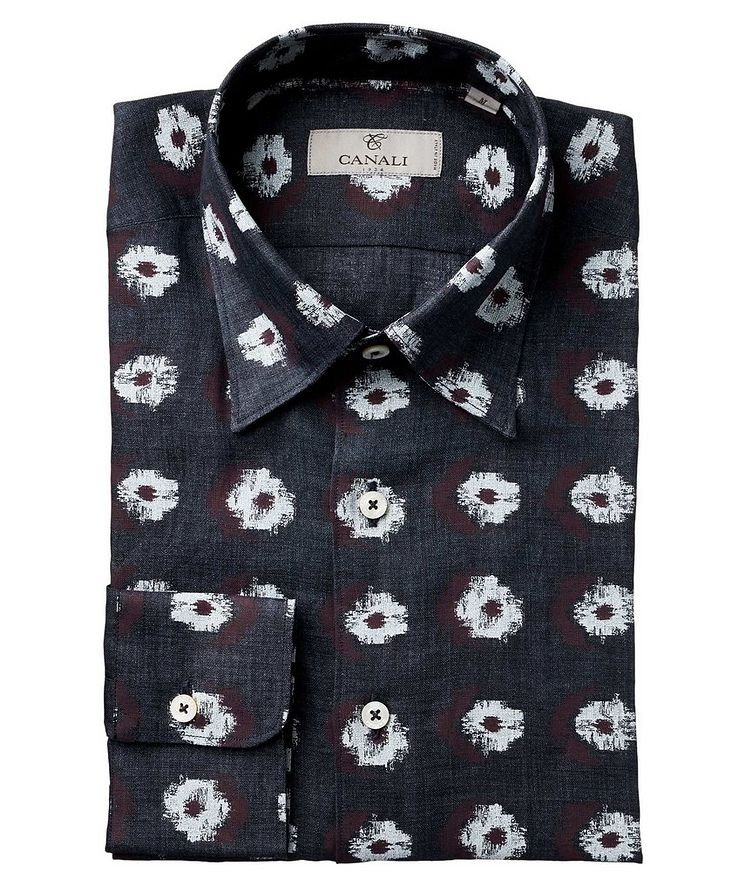 Abstract Ikat-Printed Impeccabile Cotton Shirt image 0