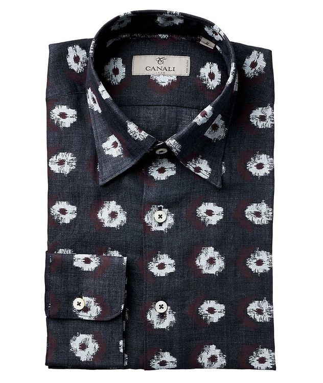 Abstract Ikat-Printed Impeccabile Cotton Shirt picture 1