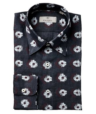 Canali Abstract Ikat-Printed Impeccabile Cotton Shirt