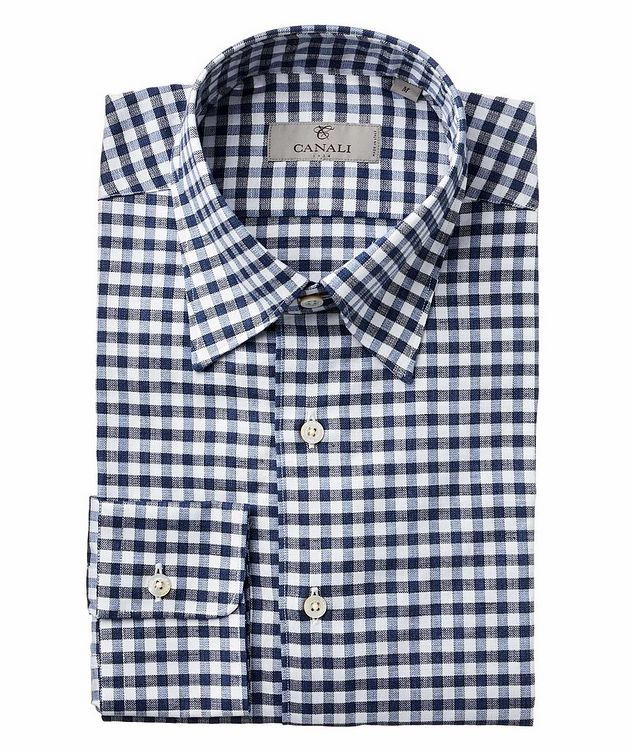 Gingham Check-Printed Cotton Shirt picture 1