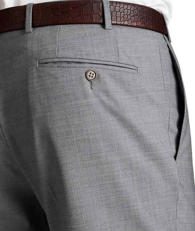 Slim Fit Stretch-Wool Dress Pants picture 3