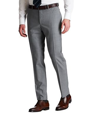 Canali Slim Fit Stretch-Wool Dress Pants