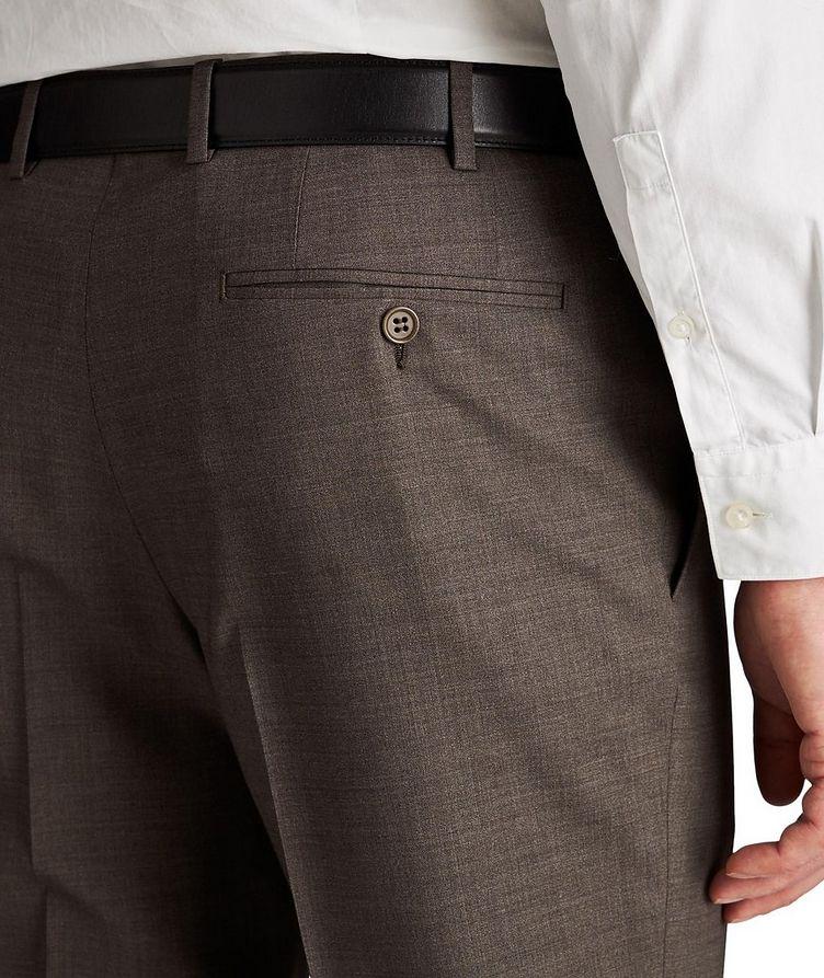 Pantalon habillé en laine de coupe amincie image 2