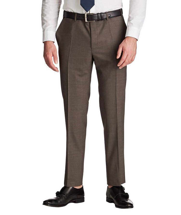 Pantalon habillé en laine de coupe amincie image 0