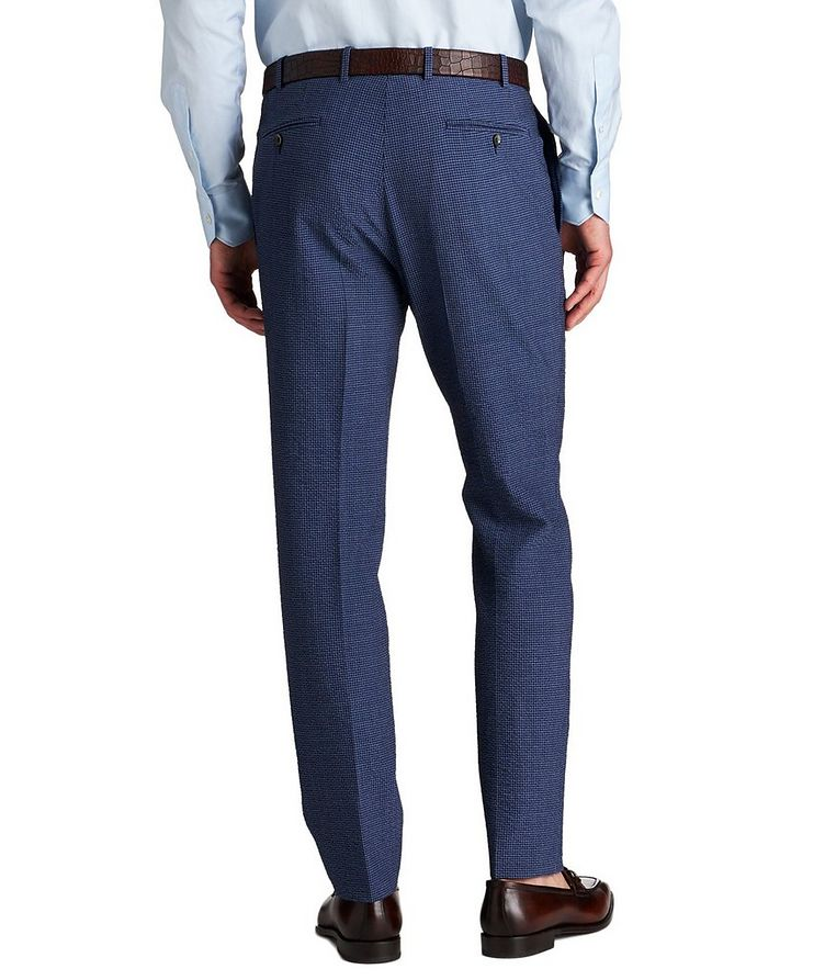 Kei Slim Fit Gingham Checked Seersucker Dress Pants image 1