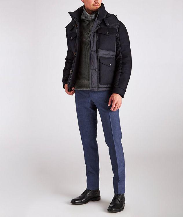 Kei Slim Fit Gingham Checked Seersucker Dress Pants picture 2