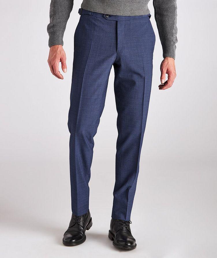 Kei Slim Fit Gingham Checked Seersucker Dress Pants image 2