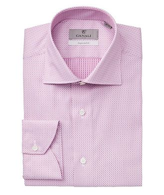 Canali Impeccabile Printed Cotton Dress Shirt