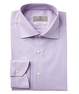 Canali Checked Impeccabile Dress Shirt