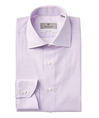 Canali Grid-Checked Impeccabile Dress Shirt