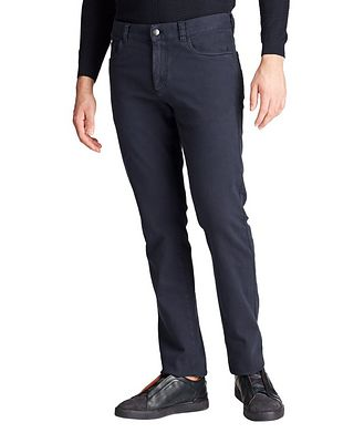 Canali Slim Fit Stretch-Cotton Jeans