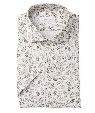 Ordean Short-Sleeve Botanical-Printed Linen Shirt
