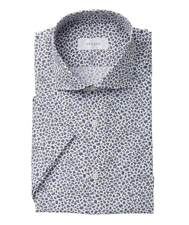Short-Sleeve Mini Botanical-Printed Cotton Shirt picture 1