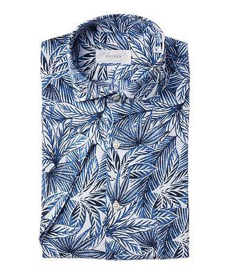 Ordean Short-Sleeve Botanical Linen-Cotton Shirt