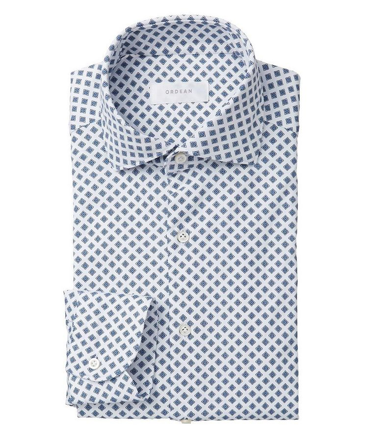 Neat-Printed Cotton Shirt image 0