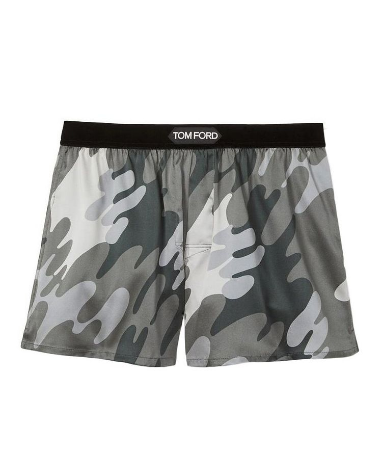 Camouflage Stretch-Silk Boxers image 0