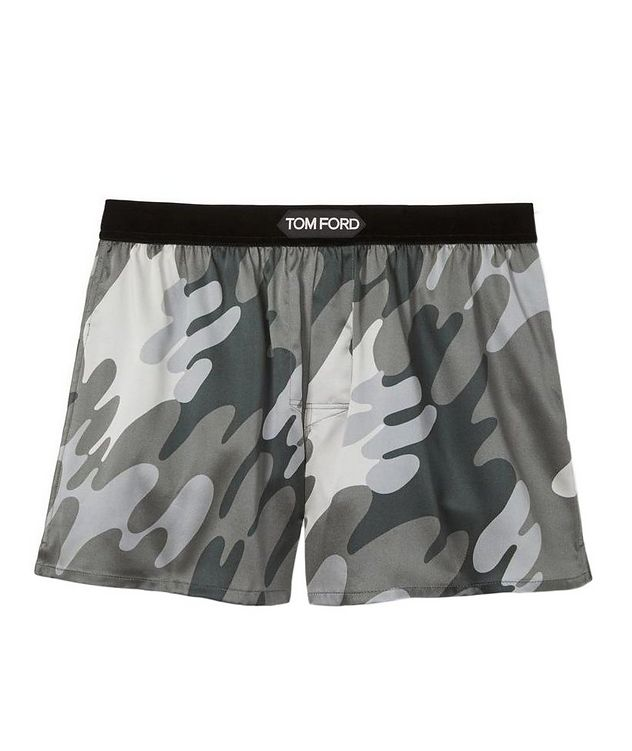 Camouflage Stretch-Silk Boxers picture 1
