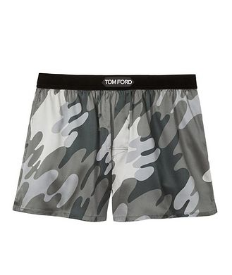 Tom Ford Camouflage Stretch-Silk Boxers