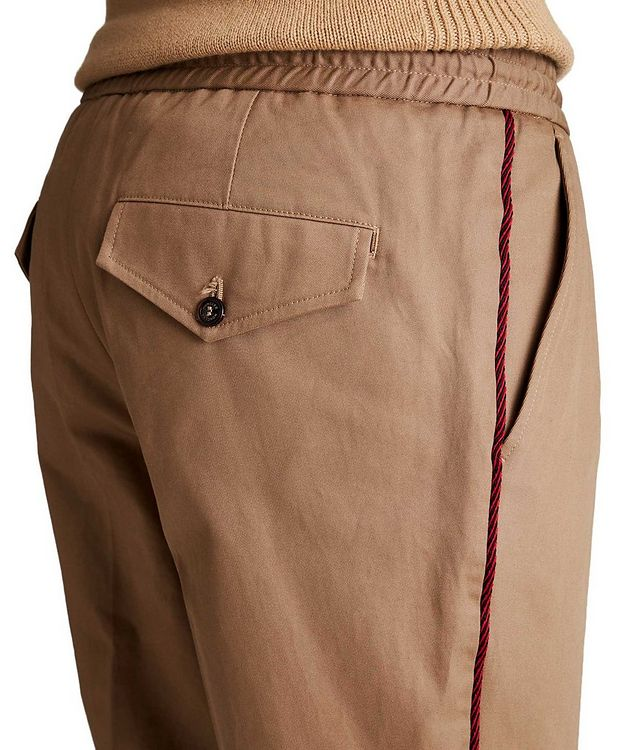 Pleated Cotton Twill Pants picture 3