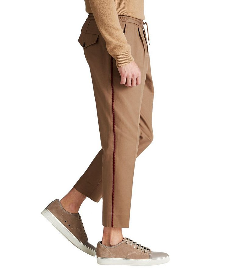 Pleated Cotton Twill Pants image 3