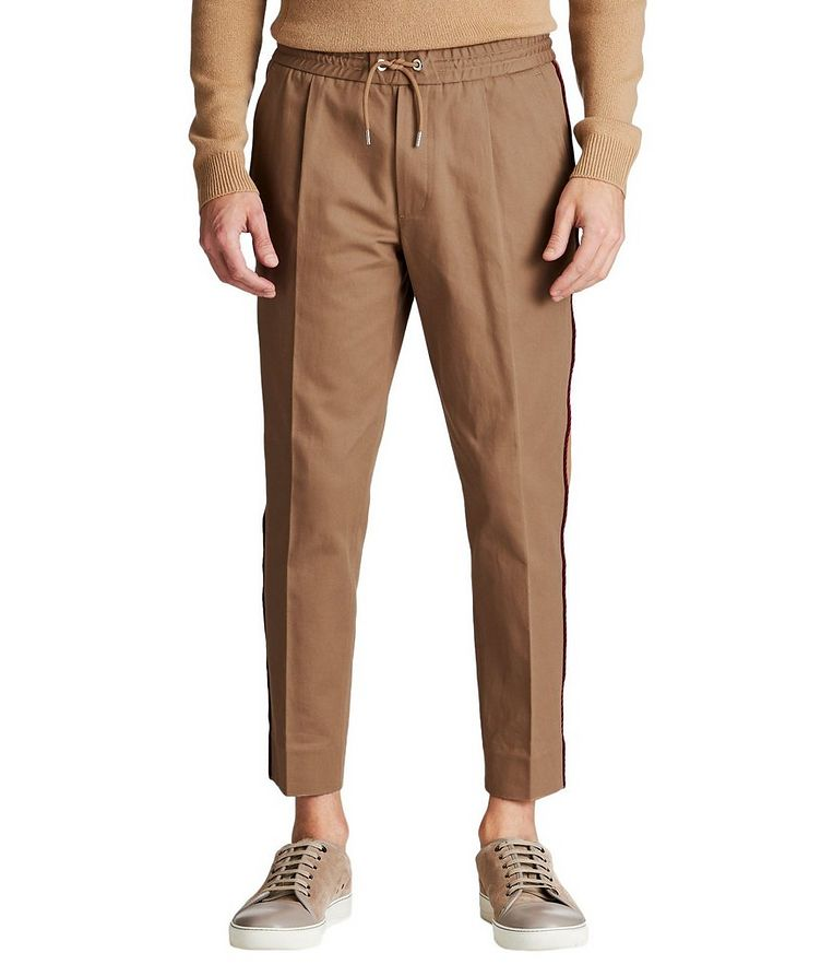 Pleated Cotton Twill Pants image 0