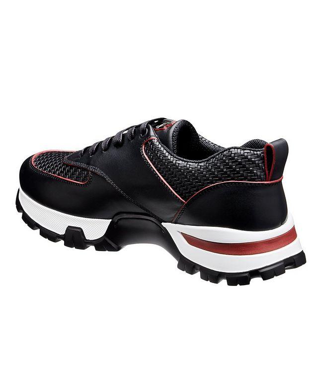 Cesare Maserati Pelle Tessuta Sneakers picture 2